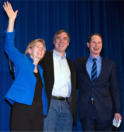 Ron Wyden, Jeff Merkley and Elizabeth Warren